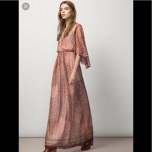 Massimo Dutti Maxi Boho Chic Dress